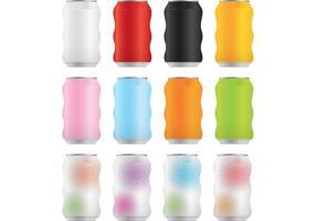 Pacote de vetores de latas de refrigerante 3