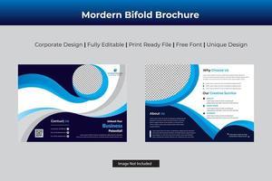 modelo bi-fold corporativo ciano escuro vetor
