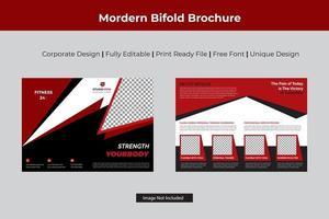design de brochura dobrável em forma de triângulo dinâmico vetor