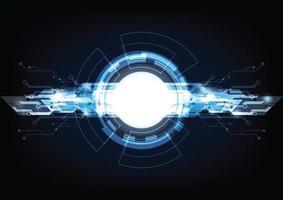 fundo de inovação digital futurista de alta tecnologia vetor