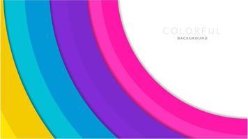 corte de papel moderno colorido fundo em camadas
