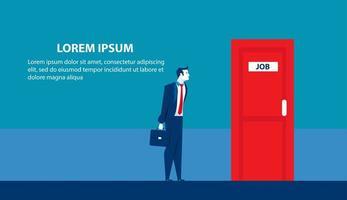 página de destino de busca de emprego de empresário vetor