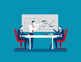 empresários na reunião de estratégia vetor