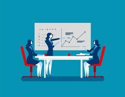 mulheres de negócios na reunião de estratégia vetor