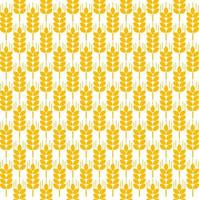 padrão sem emenda de espigas de trigo vetor