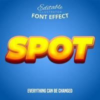texto spot, efeito de fonte editável vetor