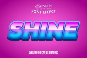 brilhar texto, efeito de fonte editável
