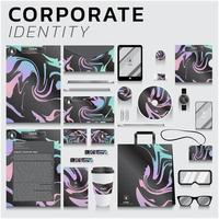 identidade corporativa de redemoinho gradiente definido para negócios e marketing vetor
