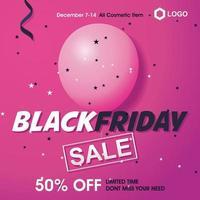 sexta-feira negra banner de vendas vetor