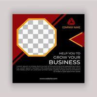 banner de postagem de mídia social de negócios geométricos simples vetor