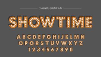 tipografia de lâmpada abstrata de horário de exibição vetor