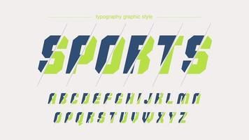 tipografia personalizada cortada moderna azul verde clara vetor