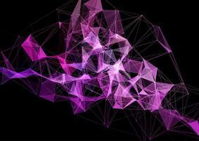 conexões de design moderno futurista do plexo vetor