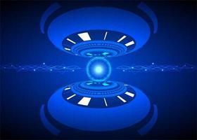 design futurista de tecnologia de segurança cibernética vetor
