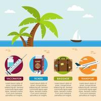 viajar na praia infográfico vetor
