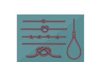 Pacote vetorial isolado de corda