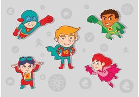 Superhero Kid Vectors