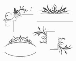 molduras ornamentais e bordas vetor