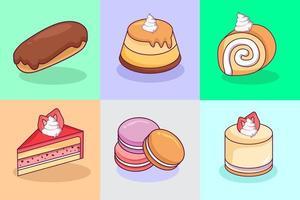 coleção de doces kawaii