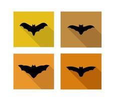conjunto de ícones de morcego quadrado vetor