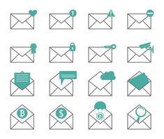 conjunto de notificações por email vetor