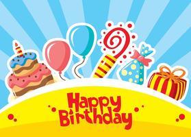 Feliz aniversário vetores
