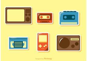 Pacote de vetores de ícones dos anos 80
