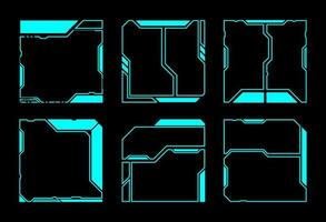 elementos de interface geométricos quadrados hud