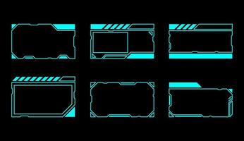 conjunto de janelas de interface retangular