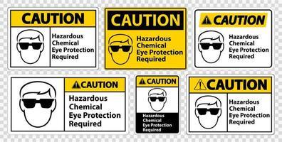 conjunto de sinal necessário de proteção ocular vetor