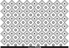 Vetor de padrão preto e branco