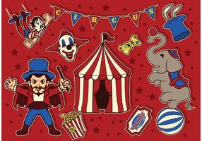 Vetores do circo do vintage