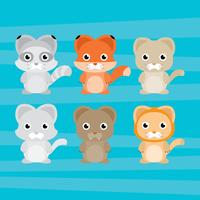 Animais dos desenhos animados vetor