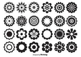 Formas de flores vetoriais