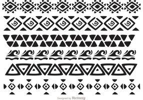Vetores de padrões tribais havaianos Pack 2