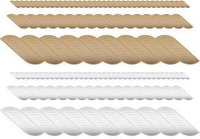 Vetores de cordas castanhas e brancas