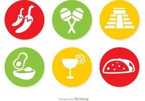 Vetores dos ícones mexicanos Pack 2