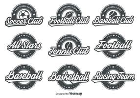 emblemas de esporte retrô