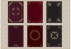 Vetores da capa do livro antigo