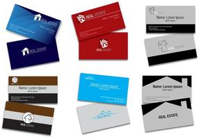 Vetores de cartão imobiliário