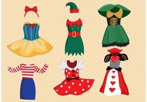 Pacote de vetores de vestuário de fantasia