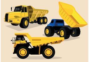 Vetores de caminhão de descarga