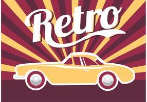 Carro do cartaz retro