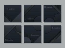 conjunto de cartão em camadas glitter escuro