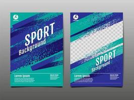 conjunto de capa de esporte dinâmico grunge vetor
