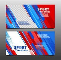 conjunto de cartão de layout de esporte vetor