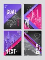 conjunto de cartaz de objetivos verticais
