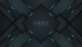 fundo de forma abstrata diamante preto vetor