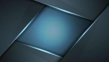 fundo inovador abstrato azul moldura cinza vetor