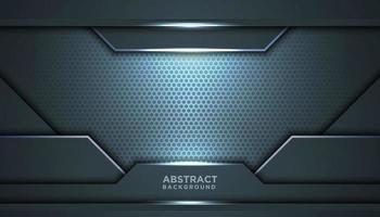fundo inovador de malha azul cinza abstrata vetor